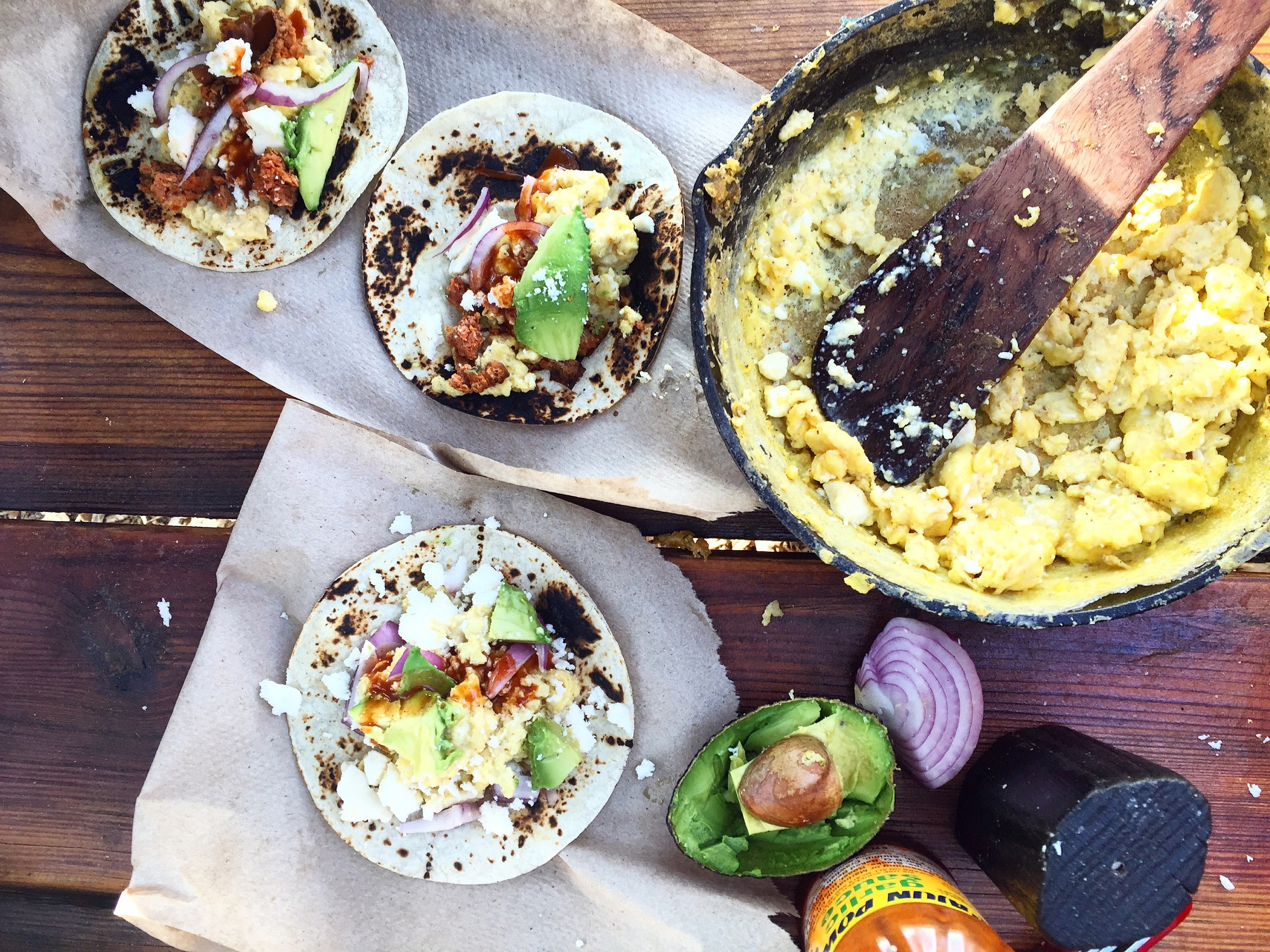 Campstove Breakfast Tacos// Denton, Texas
