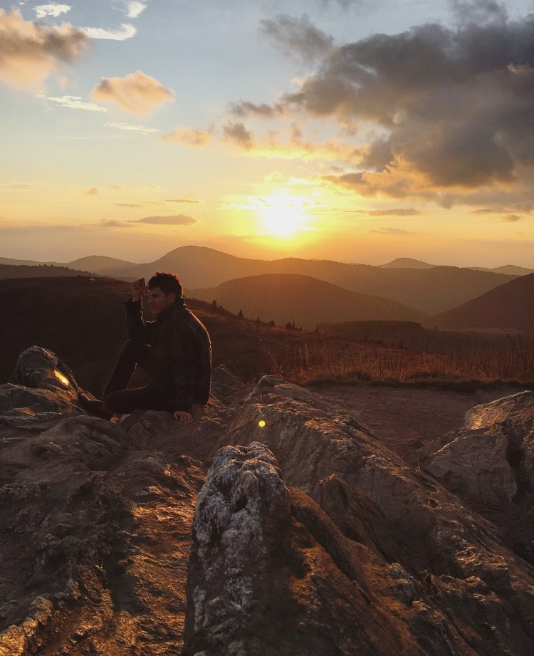 Jonathan at Sunset// Black Balsam Knob, North Carolina
