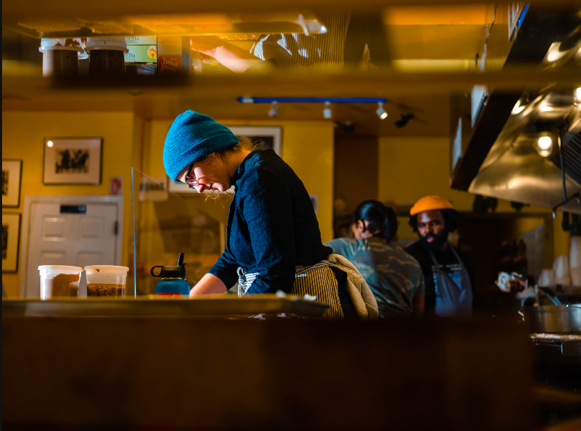 Chef Katie Briggs at South Philly Barbacoa// Photo by Ted Nghiem