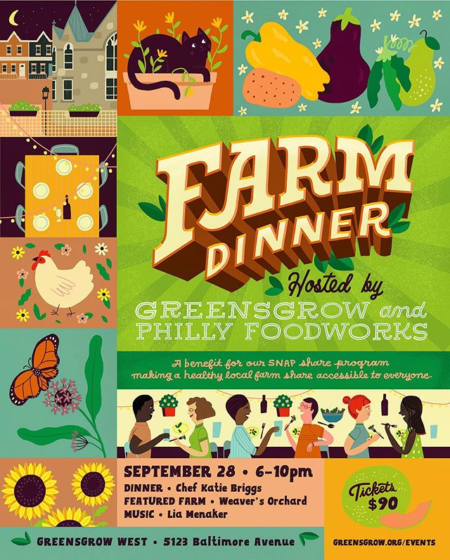 Join me September 28th for a four-course Farm Dinner @greensgrowwest benefiting the SNAP (Supplemental Nutrition Assistance Program) at Greensgrow. I was on SNAP in 2017 when I took a pay-cut to do an apprenticeship. Being able to buy healthy groceries at the farmers market and co-op was such a relief to my finances. Too often we ignore how crucial safety nets like SNAP are for our community. It is time that we see food access as a vital part of a healthy community. We have a long way to go before we can heal this flawed system but I am honored to be able to give back to the program that helped me get to where I am today. Share this post and be entered to win a pair of tickets! Check out @greensgrowwest for details #radicalfood #eclectikdomestic