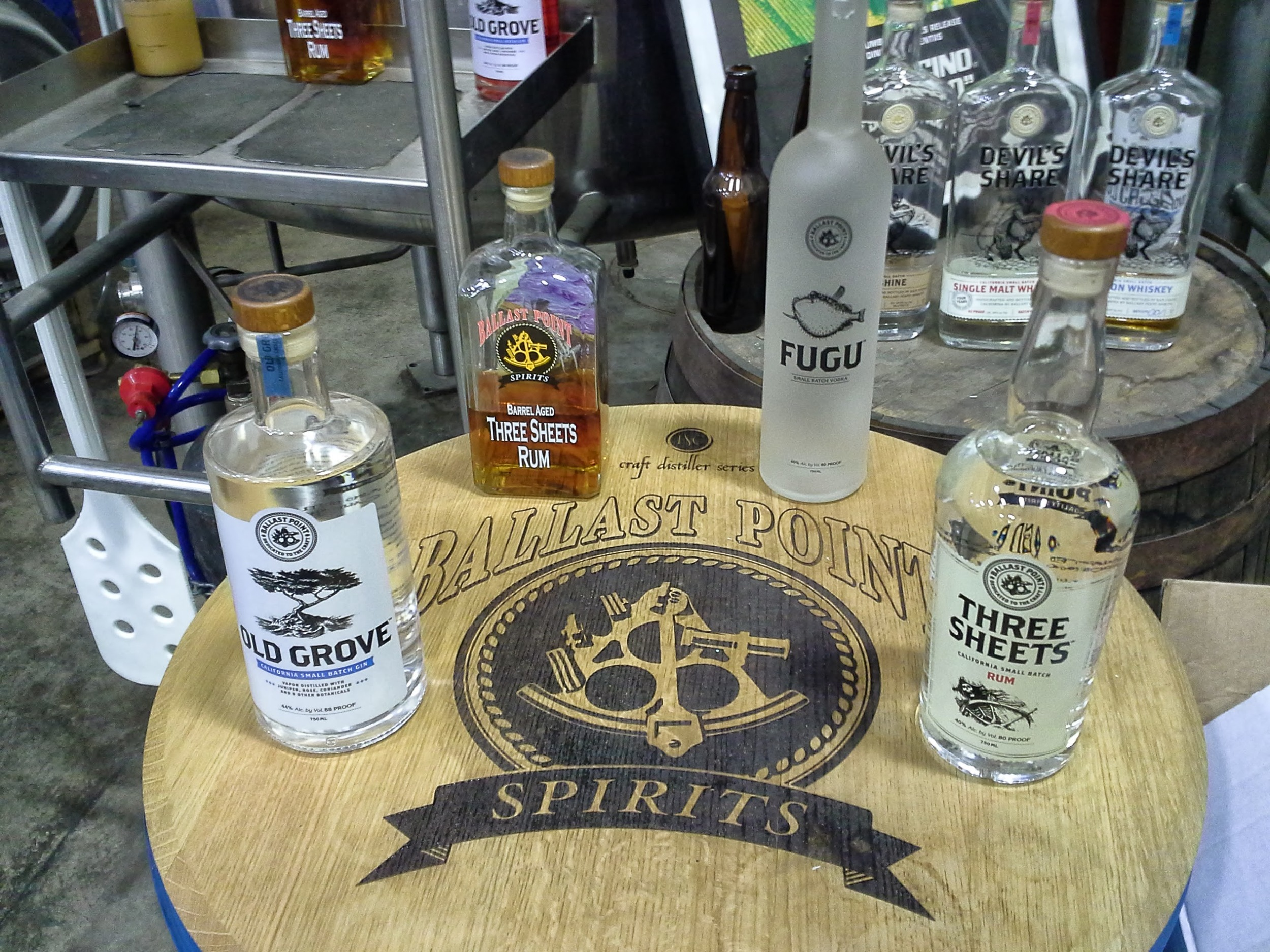 Lineup from Ballast Point Spirits