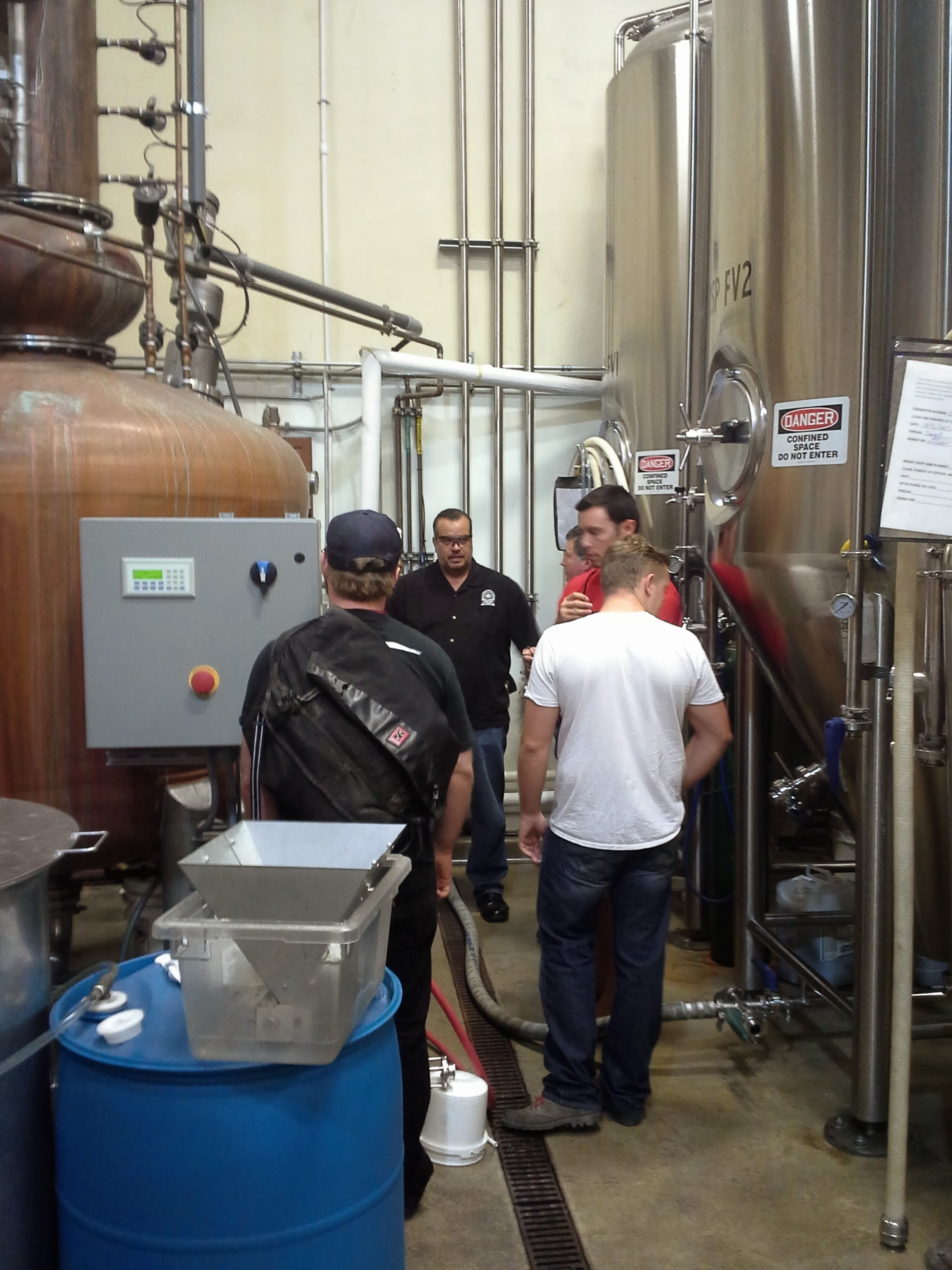 Participants discuss yeast and fermentation practices at Ballast Point Spirits
