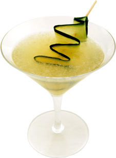 Griffith   1 oz TRU organic garden vodka  1 oz Grand Poppy Aperitive  1 oz freshly squeezed local lemons  1 oz simple syrup  2-3 slices fresh local cucumbers  Muddle cucumbers, add rest and shake with ice  Strain into martini glass and garnish with a cucumber ribbon