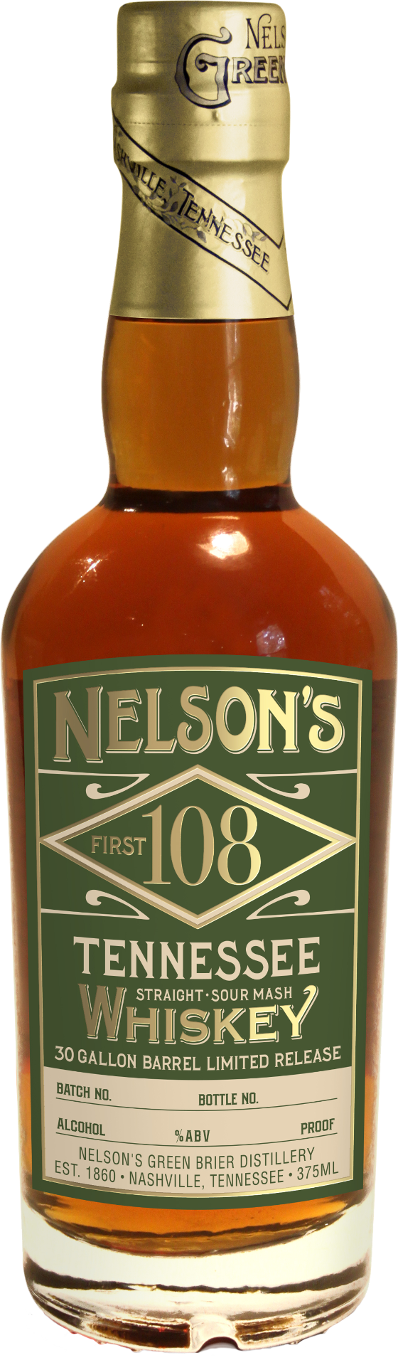 7. Nelson's First 108 Tennessee Whiskey