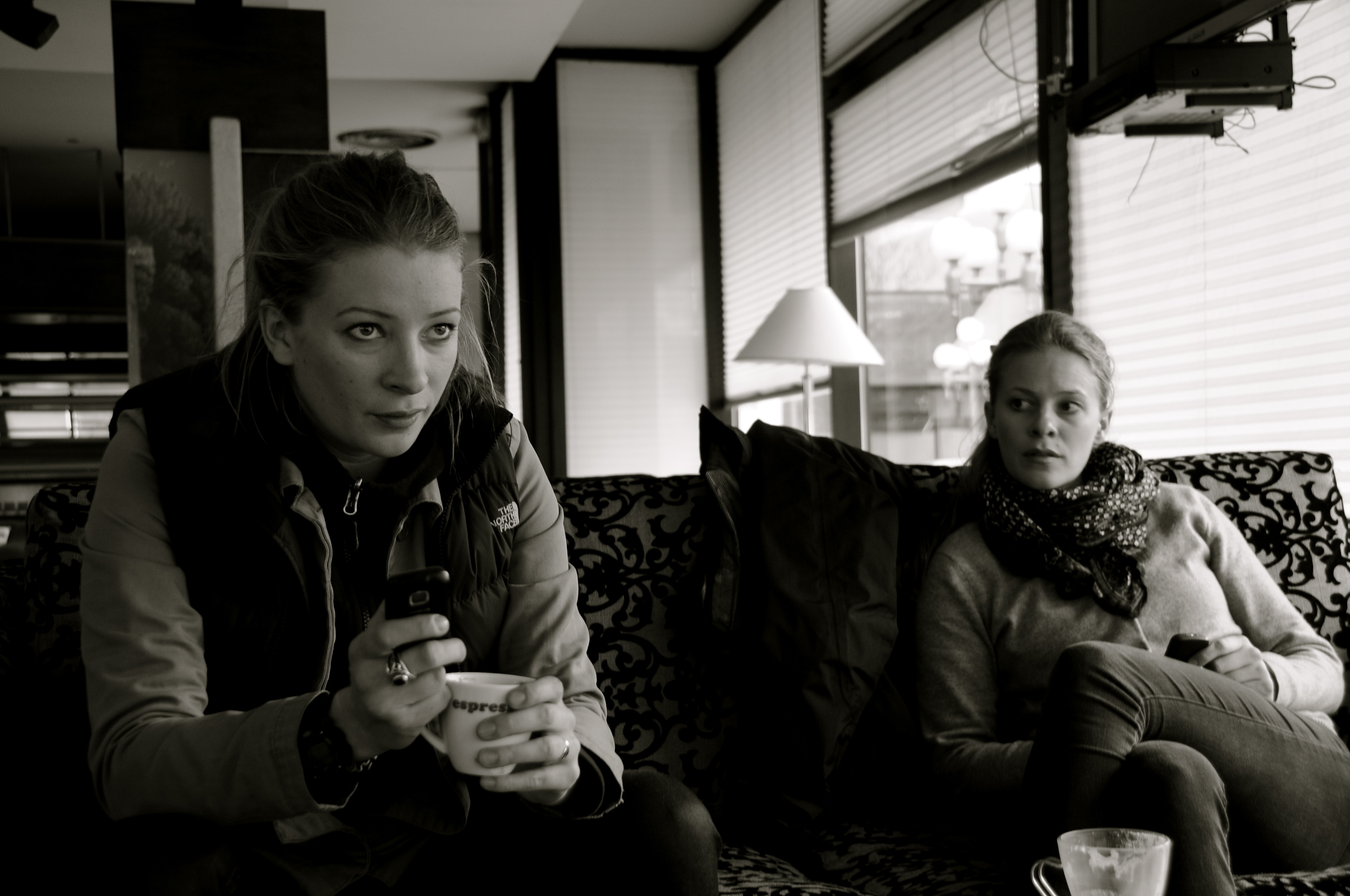 Sophia & Georgia Scott, Sarajevo November 2012