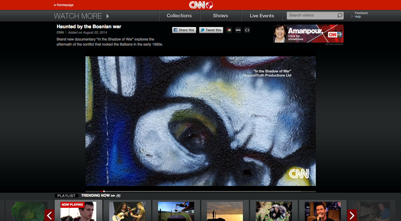 IN THE SHADOW OF WAR on CNNi