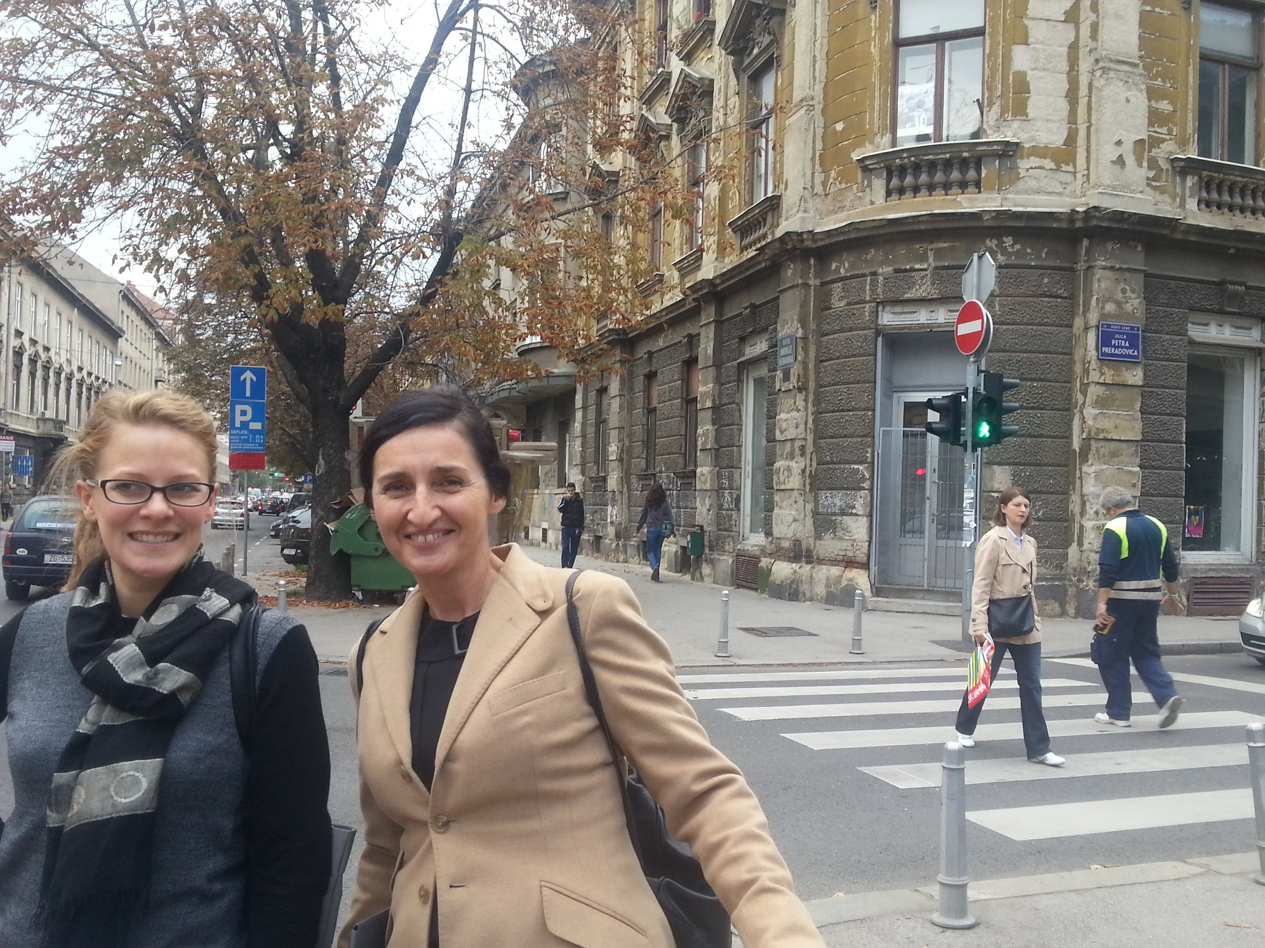 With Nada Velan our newest member of the team as our Co-exec producer, in Zagreb for meeting with Foreign ministry.