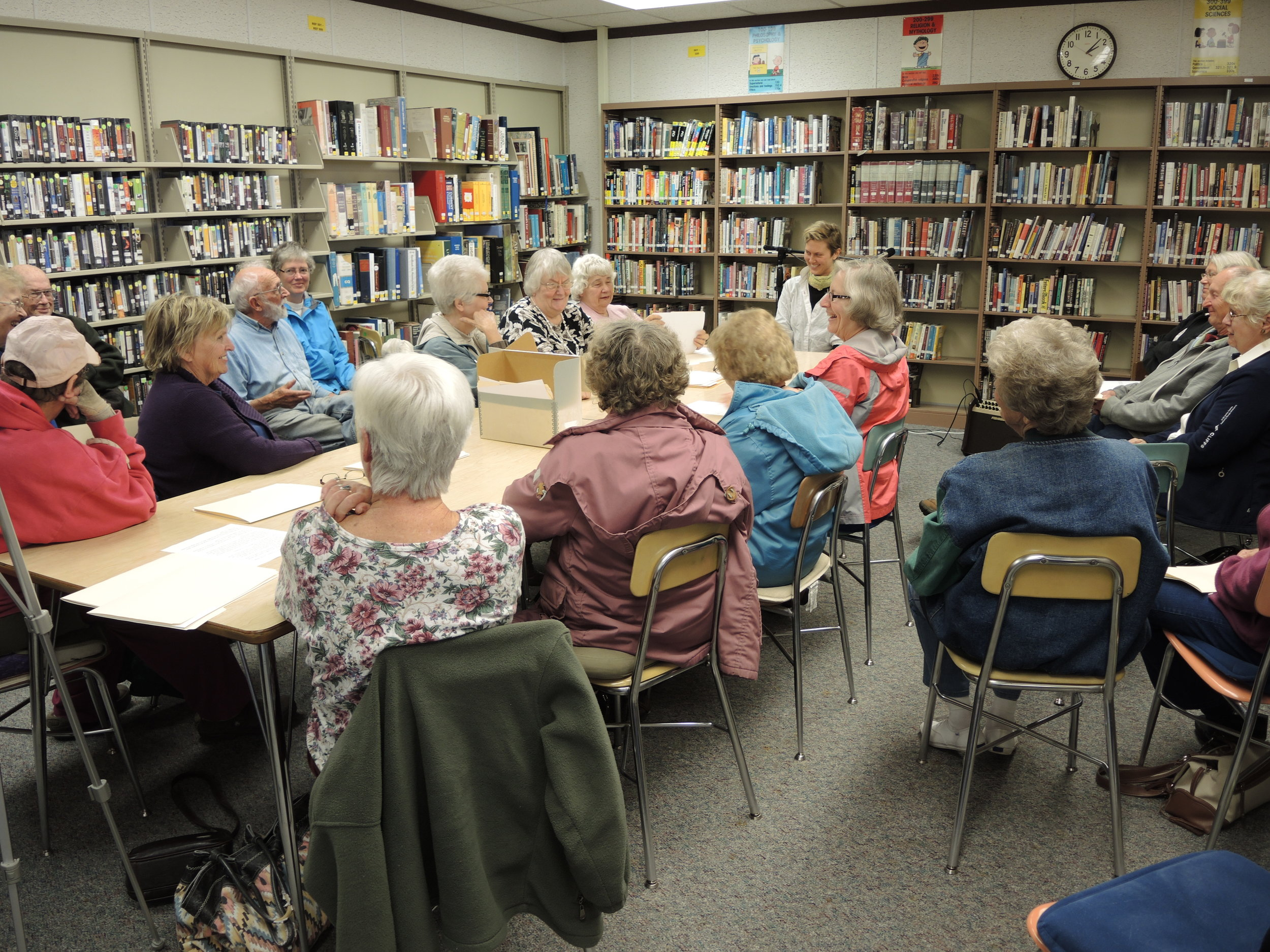 At Silver Bay Library in 2014