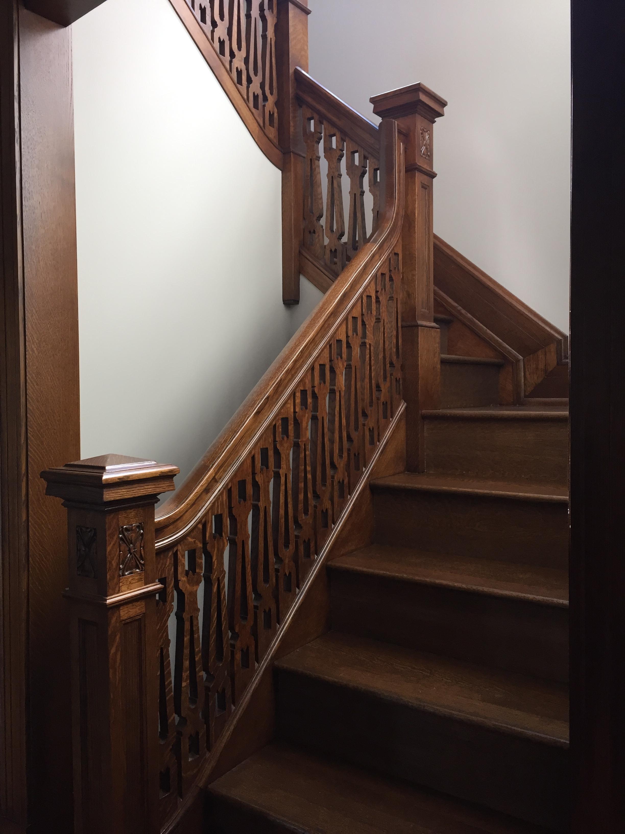 a railing restored