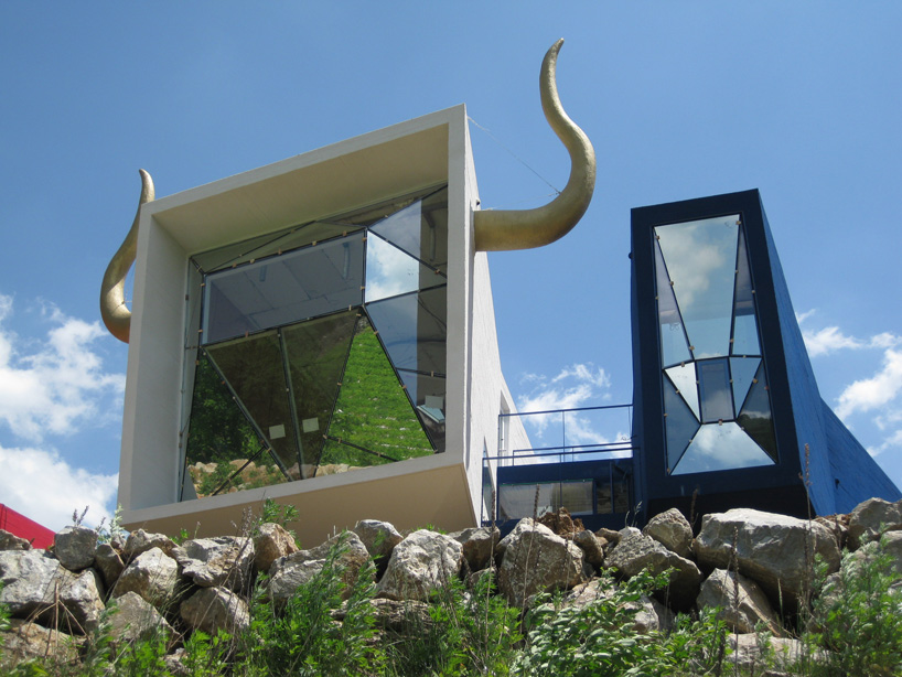 The 'spanish house' is an architectural collage of a bull fight.