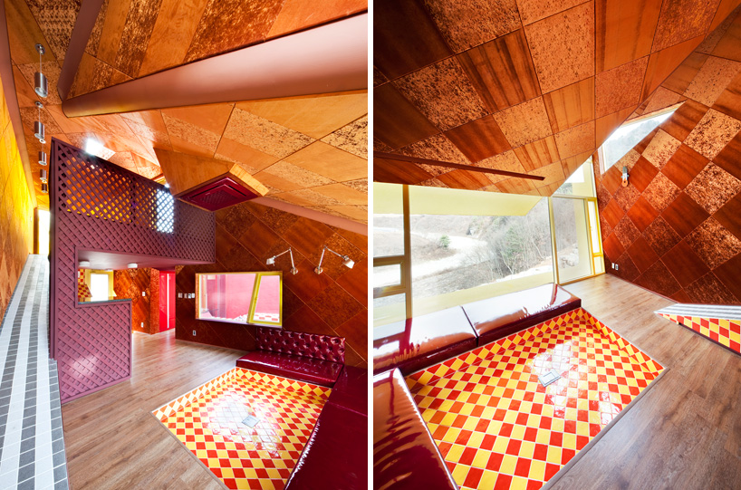 Dining and living space views of 'Barbie House'.