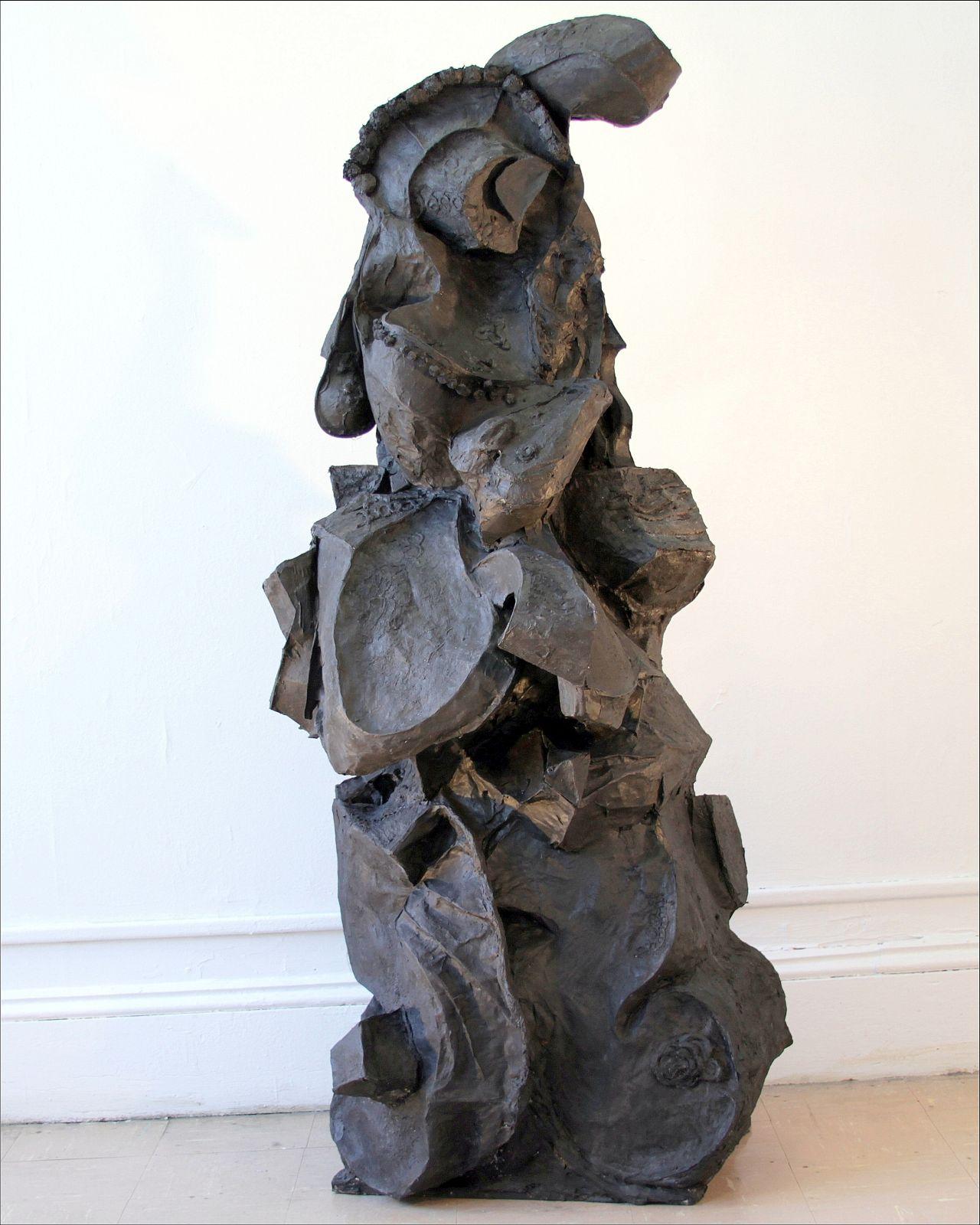 Bernice Sokol   Kramer    Lady in the Dark    paper mache, acrylic, mixed media on wood base    $6,000