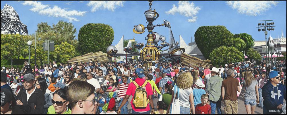 David Holmes Title: Tomorrowland Size: 32 x 80 x 2 Price: $45000 Medium: Watermedia