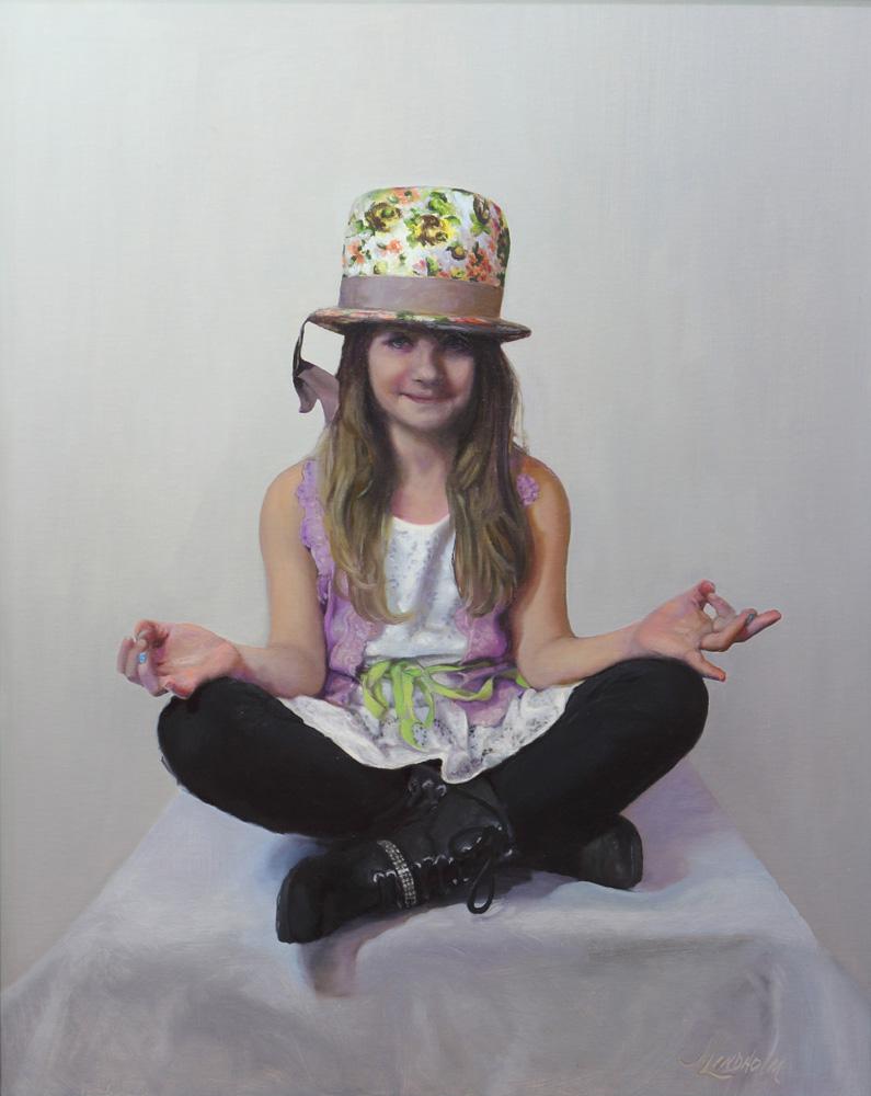 Jamie Lindholm Title: Namaste Size: 30 x 24 Price: $16000 Medium: Oil