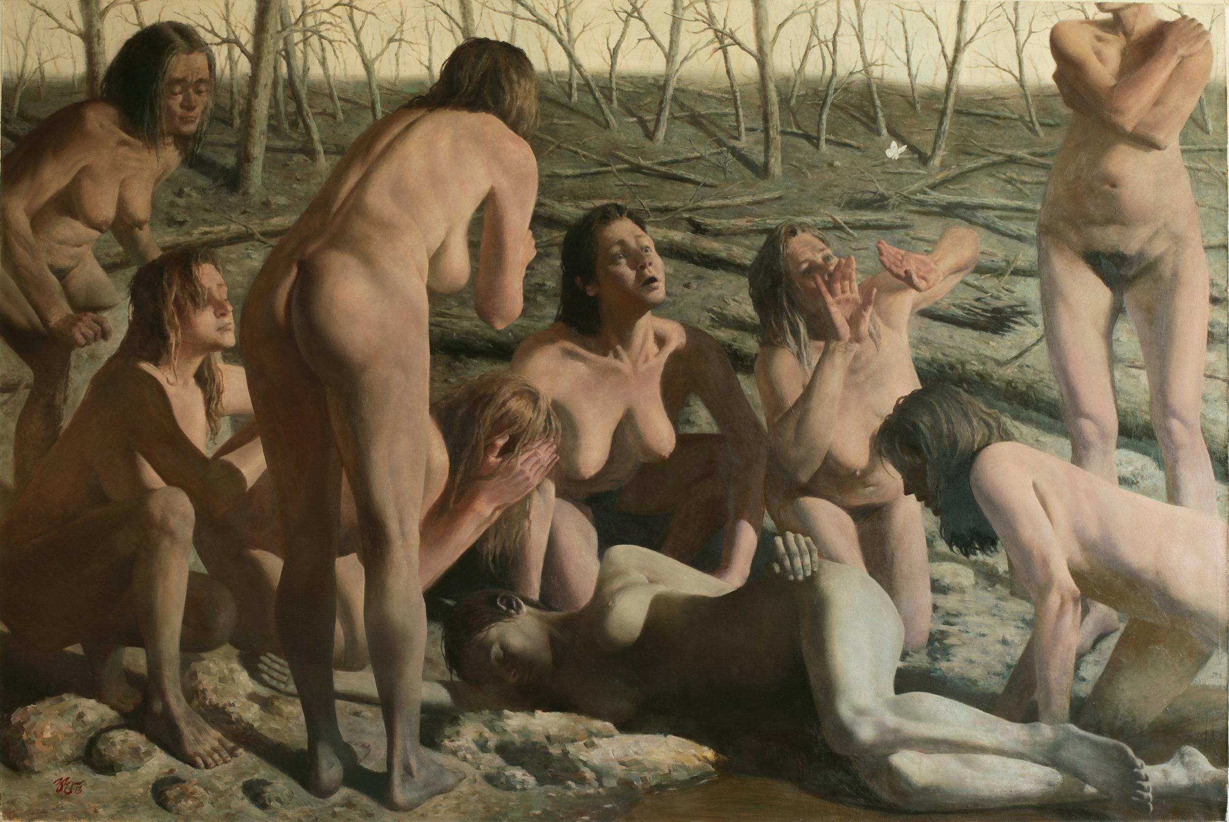 Zimou Tan Title: Relief Size: 48 x 72 x 2 Price: $65000 Medium: Oil