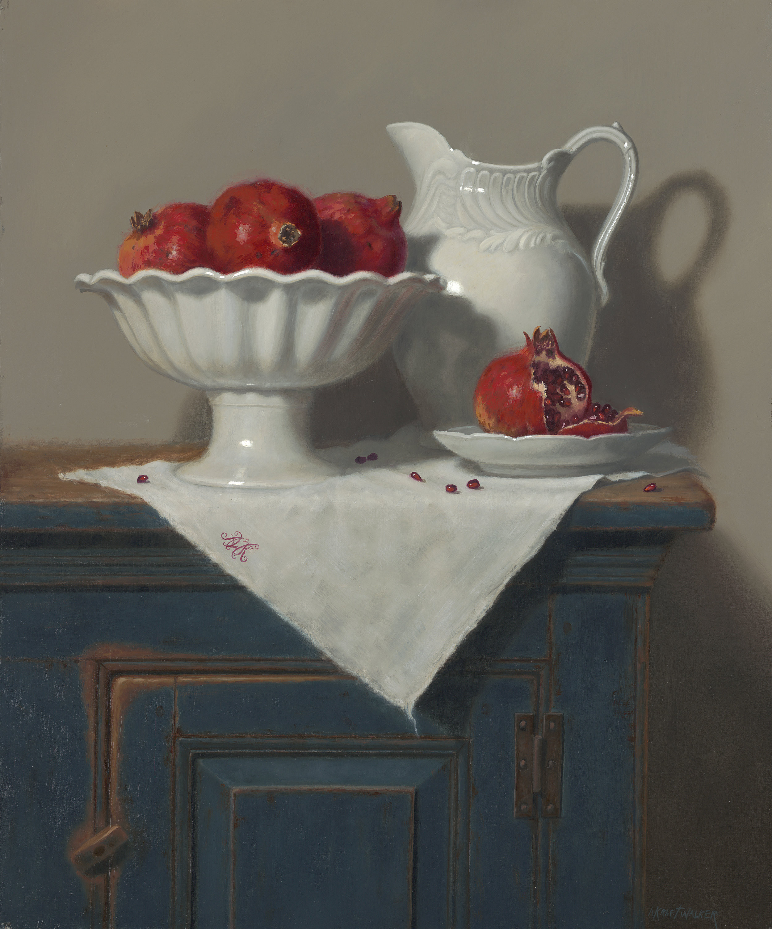 Ann Kraft Walker Title: White on White Size: 24 x 20 x 1 Price: NFS Medium: Oil