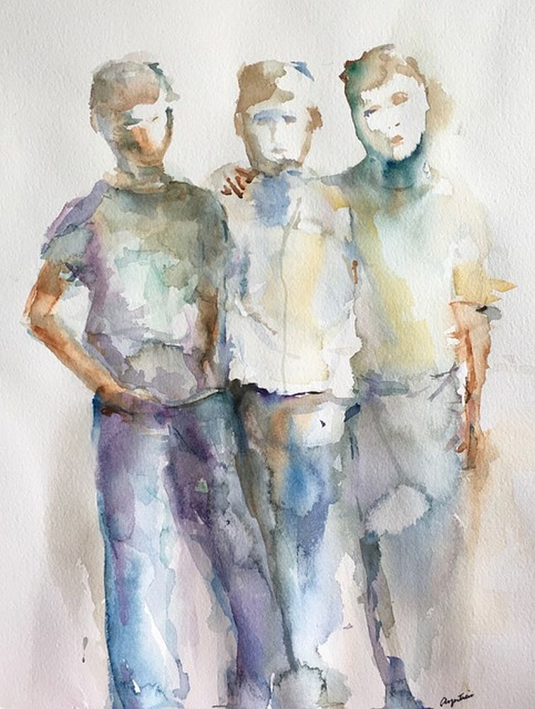 Lisa Argentieri Title: Brothers Size: 13 x 11 x 0 Price: $850