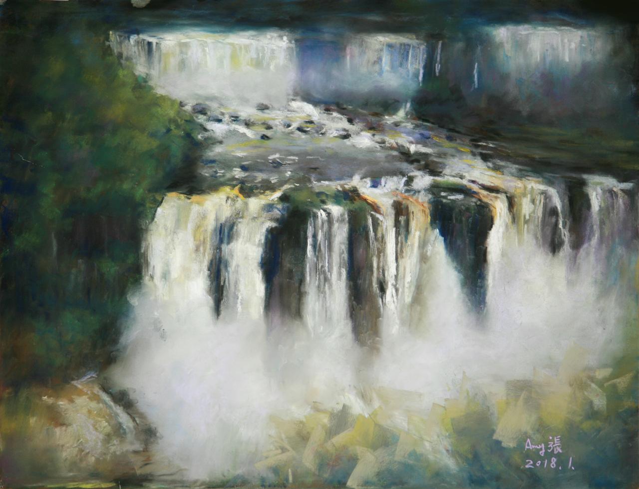 Amy Chang Title: Brazil - Iguazu Falls Size: 18 x 14 Price: $1800