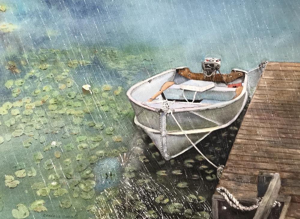 Candace Cima Title: Done Fishing Size: 14 x 20  Price: $1600