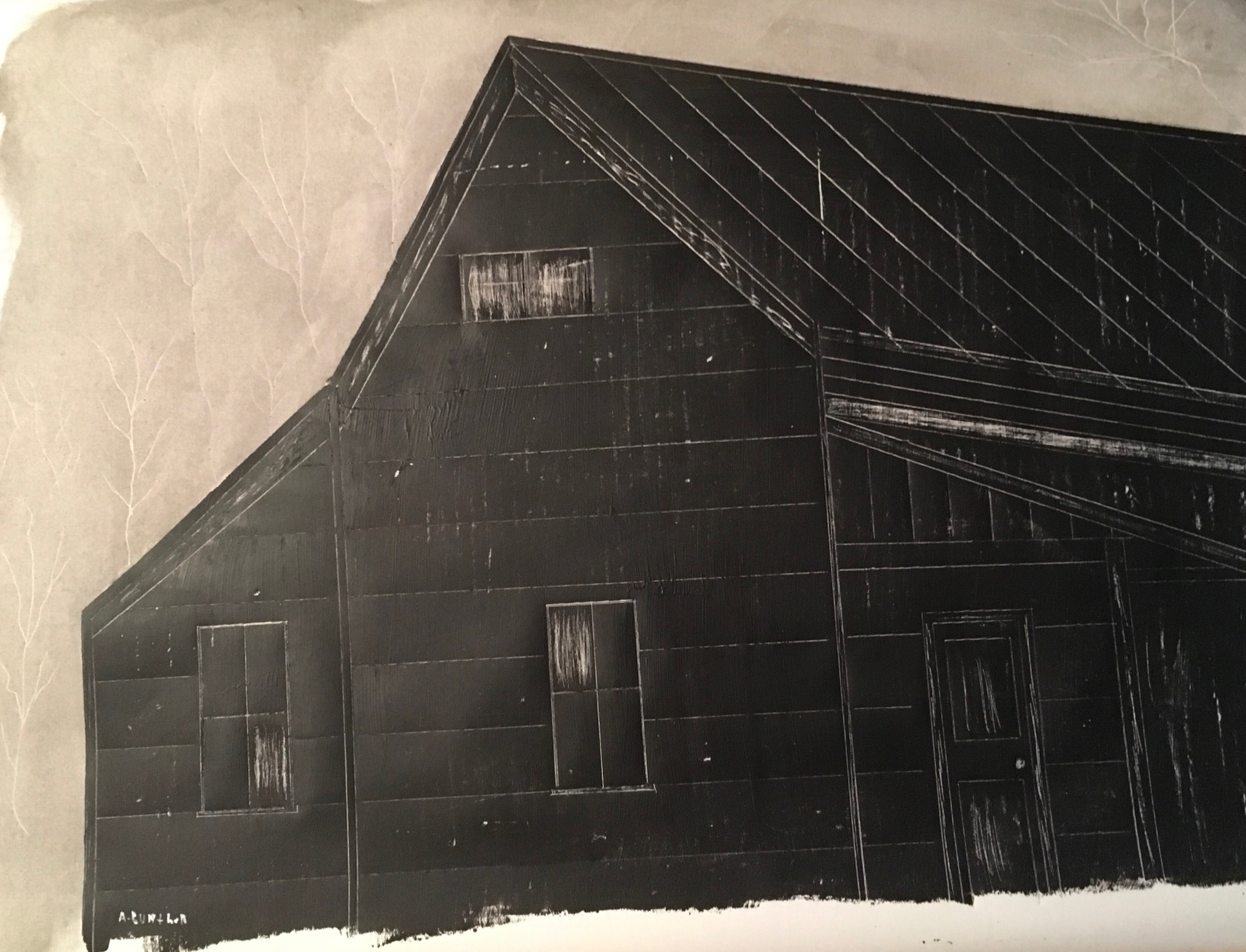 Art Gunther Title: Old House in Negative Size: 24 x 30 Price: $650
