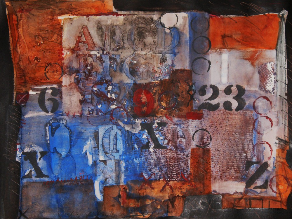 John James Title: Letters to remember-easy as 1, 2, 3 Size: 17 x 23 Price: $1250