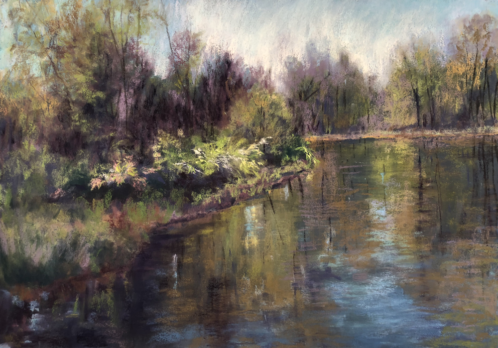 Valerie Mandra Title: Spring Reflections Size: 19 x 27 Price: $1200