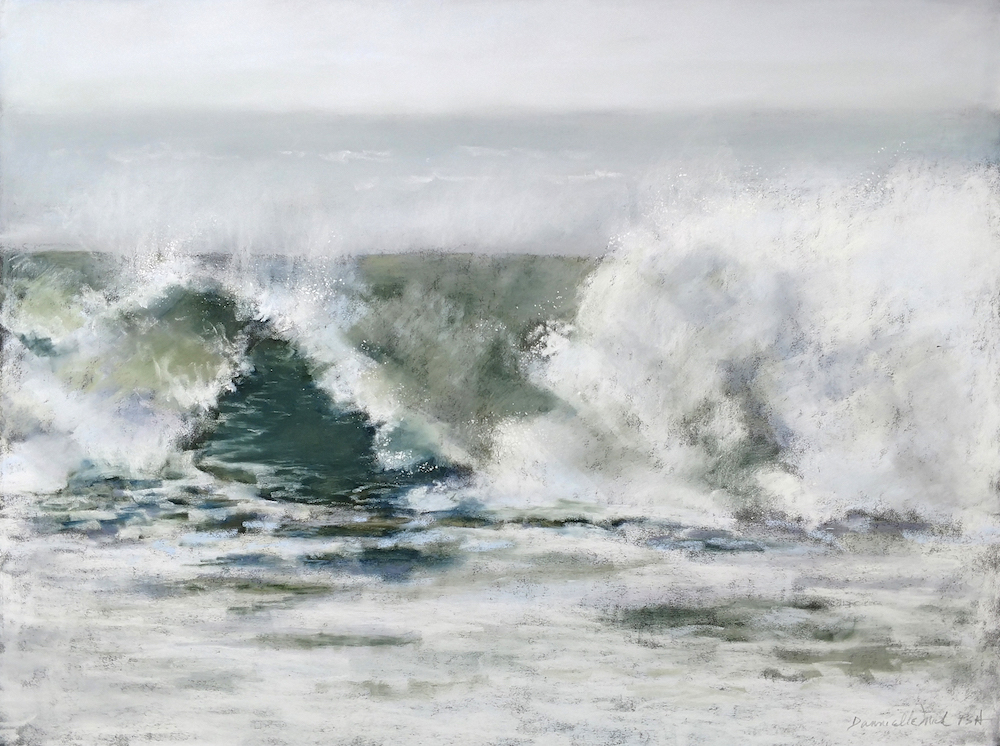Dannielle Mick Title: 2853 Mist Over the Sea 3 Size: 16 x 2 x 20 Price: $1080