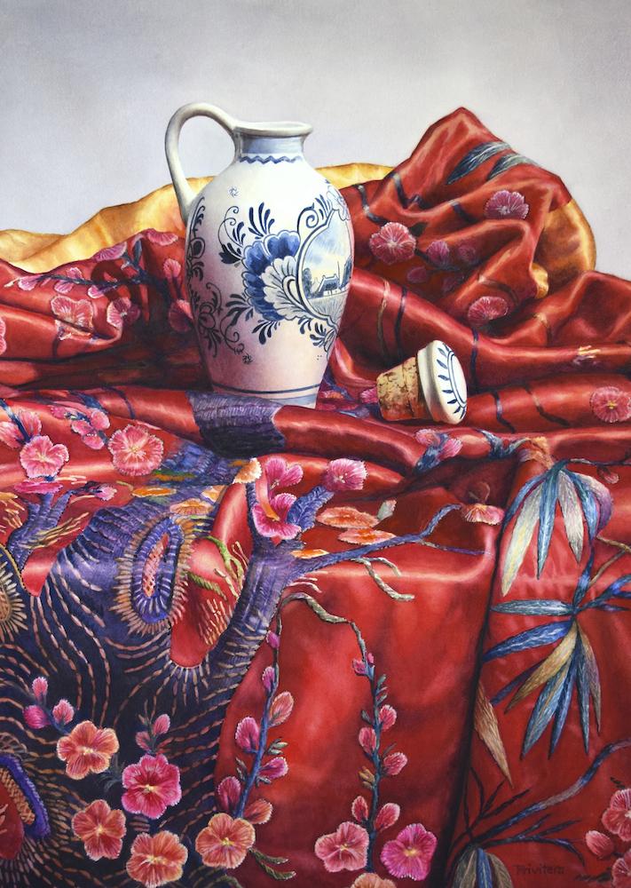 Lana Privitera Title: Silk Size: 29 x 21 Price: NFS