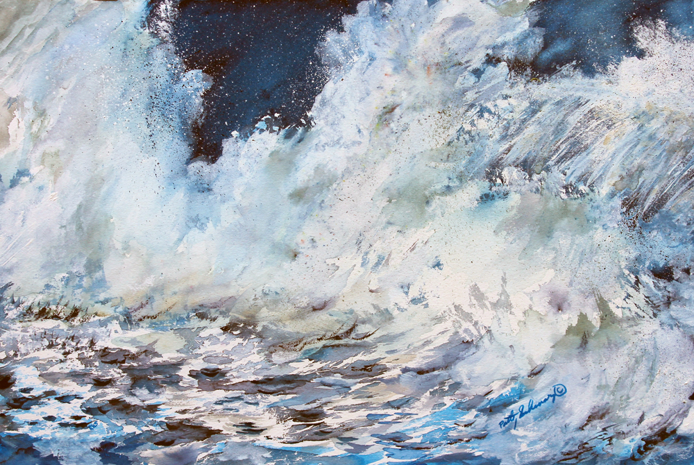 Patty Schwarz Title: Roar of the Surf Size: 12 x 18  Price: $425