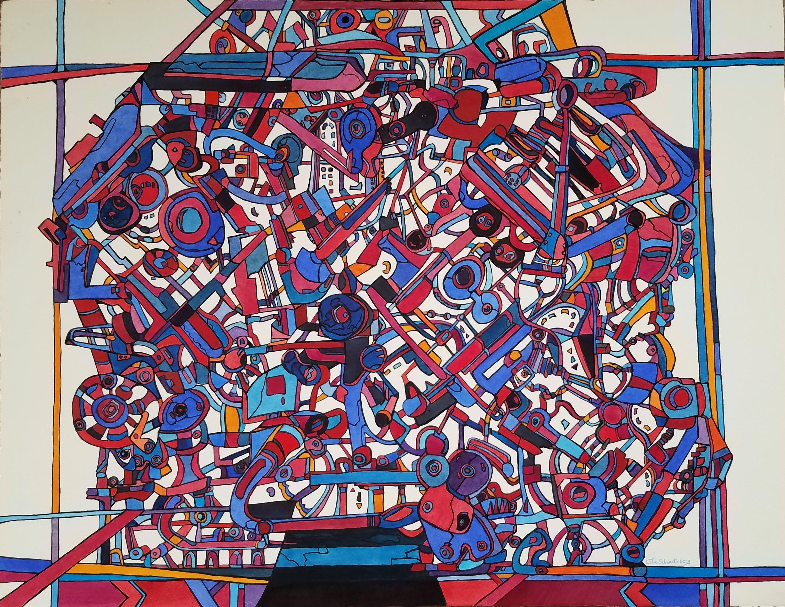 Lita Schwartzberg Title: Modern Times Size: 22 x 28 Price: $2500