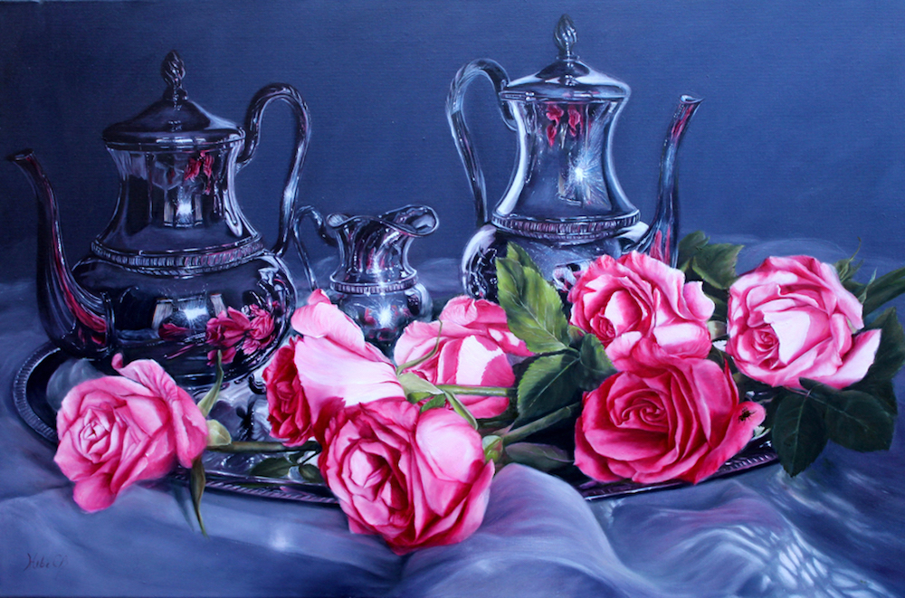 Hebe Brooks Title: Fly by Tea Time Size: 20 x 30 x 1  Price: $3200
