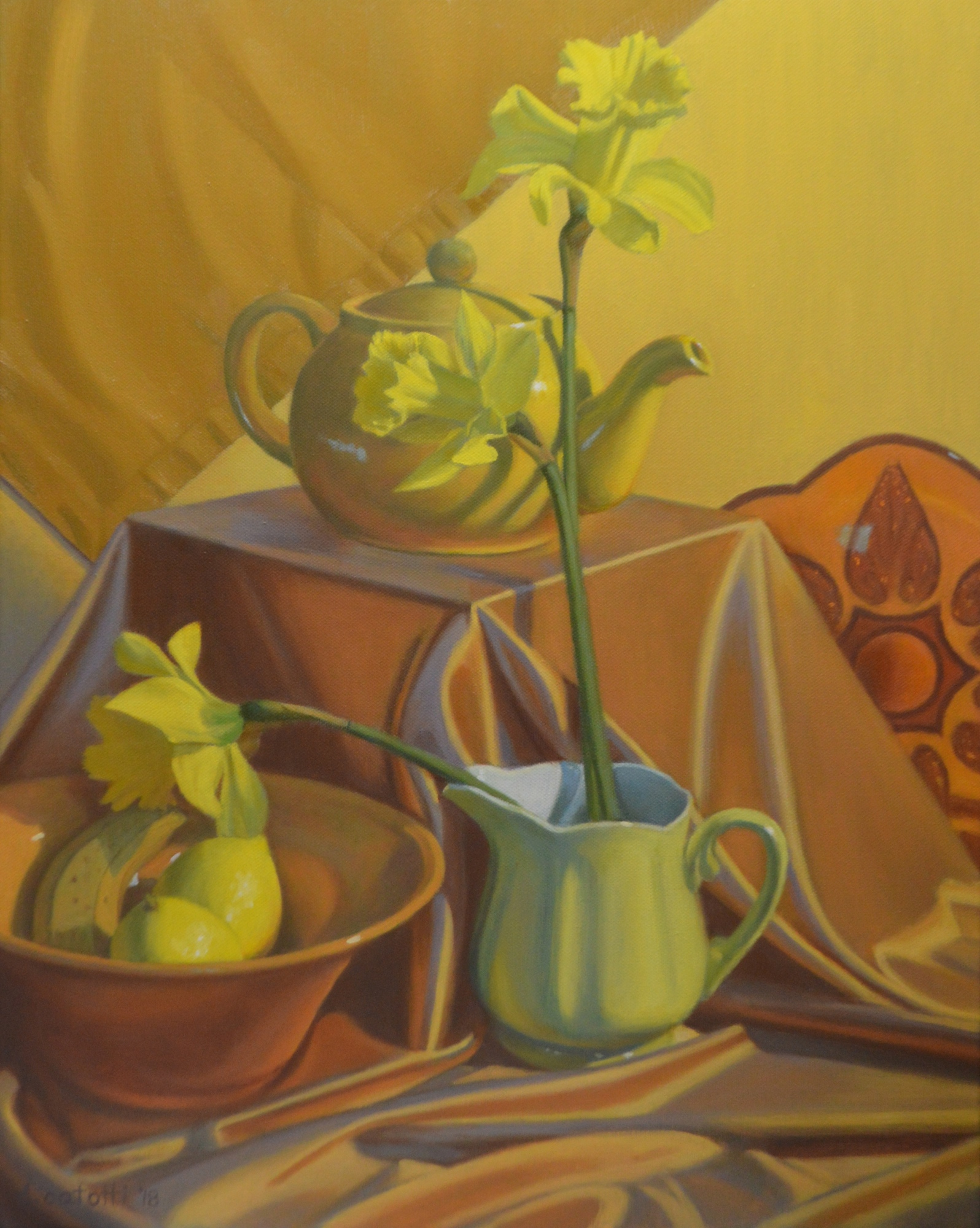 Donna Catotti Title: Still Life in Yellow Size: 20 x 16 x 0 Price: $3000