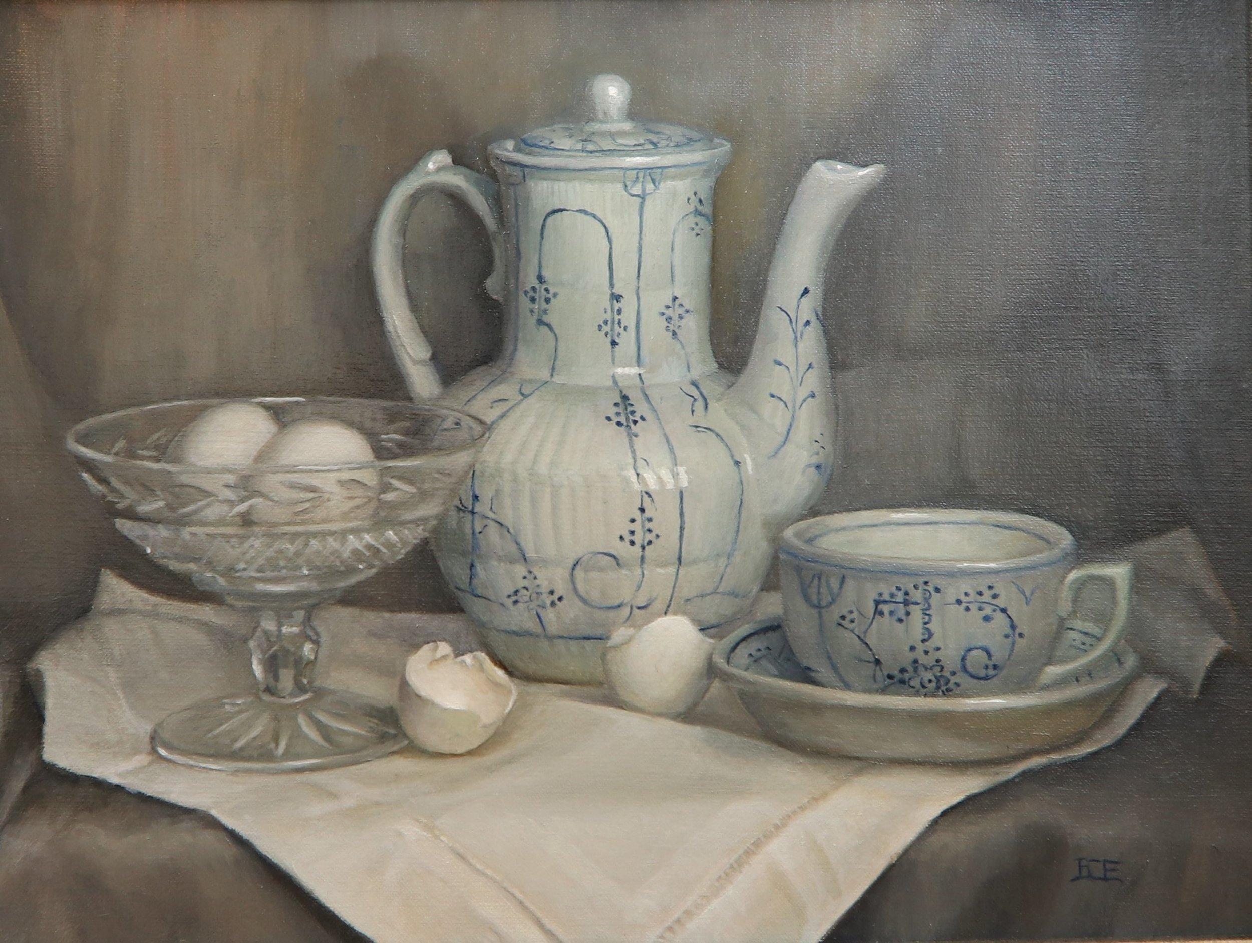 Barbara Efchak Title: Belgium Breakfast Size: 12 x 16 x 2 Price: $1400