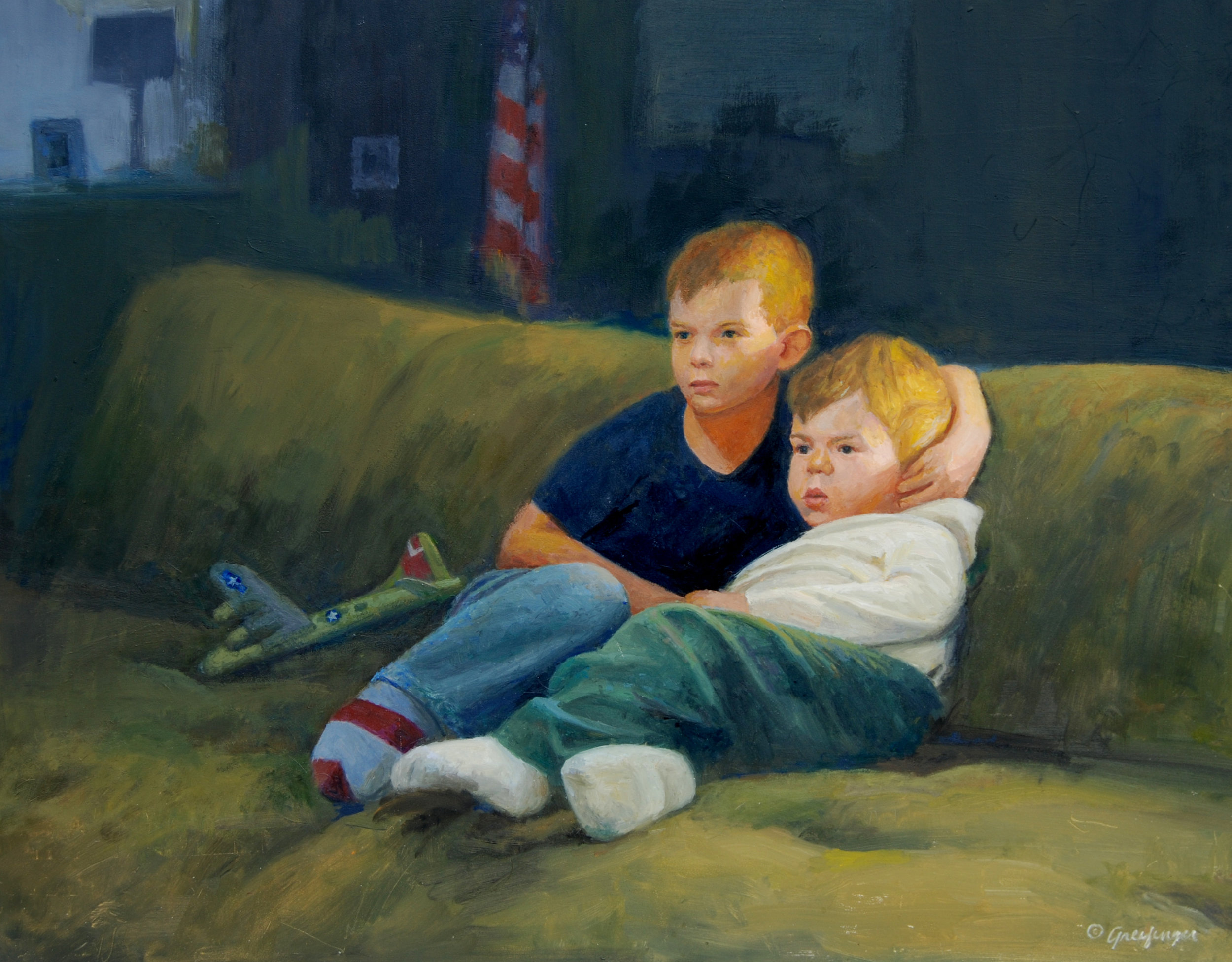 Mel Greifinger Title: American Brothers Size: 18 x 23 Price: $2500