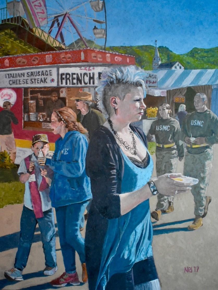 Nils Johnson Title: Tunbridge World's Fair Size: 30 x 40 x 2  Price: $12500