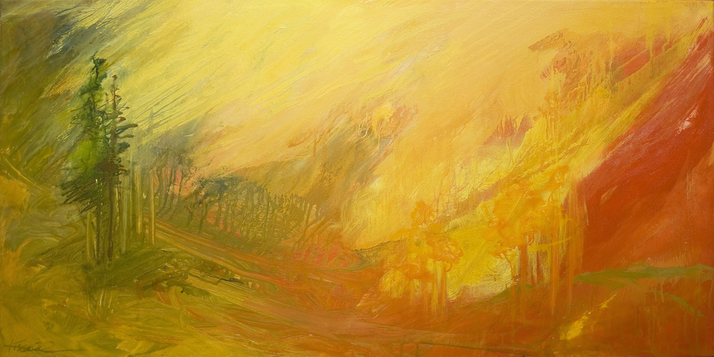 S. Chandler Kissell Title: Mountain's Glory Size: 20 x 40 Price: $5600