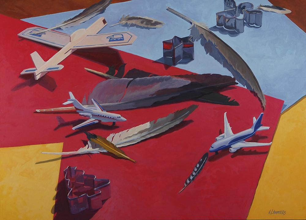 Abby Lammers Title: Flight Pattern Size: 23 x 32 x 1.5 Price: $3400