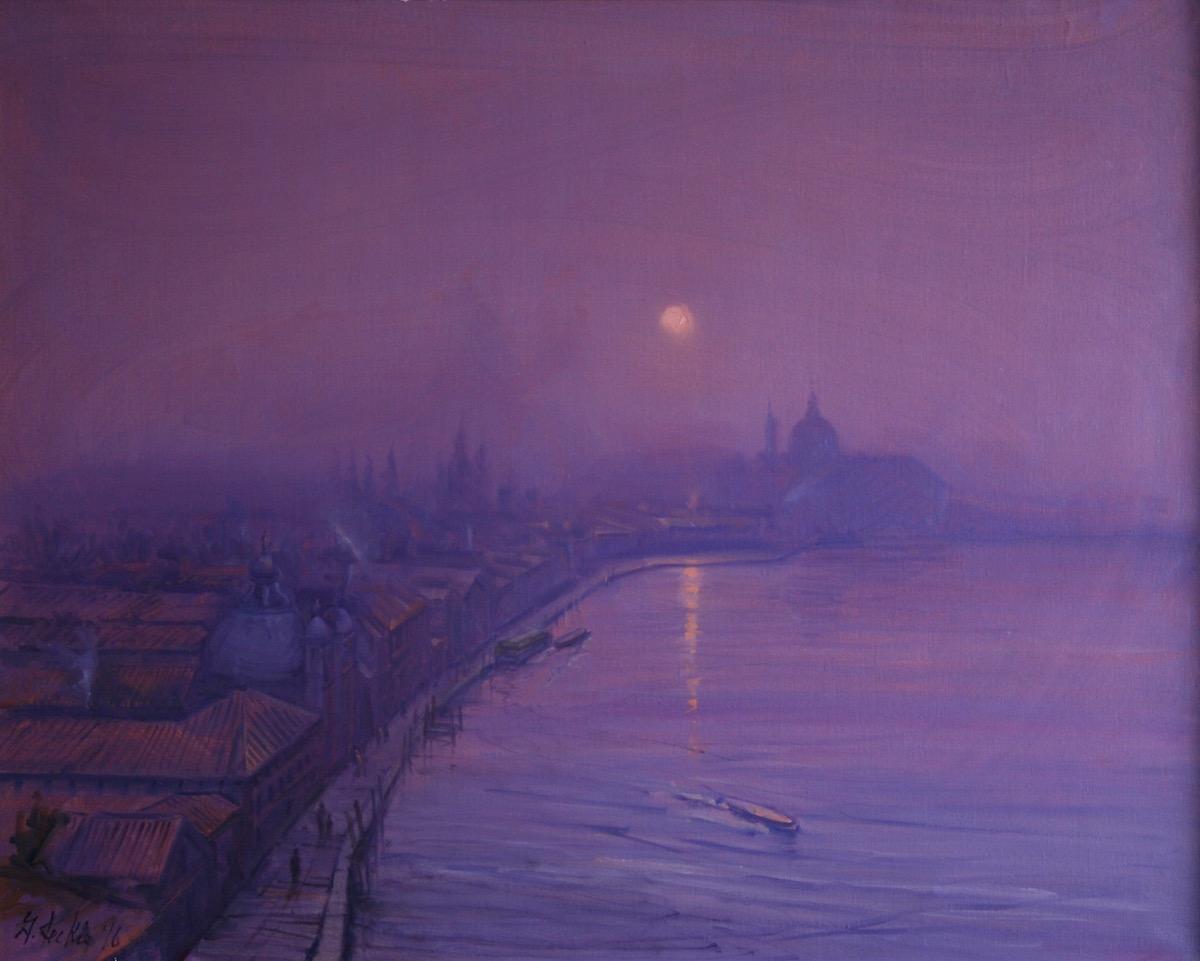 Geoffrey Leckie Title: Sunset, November, Giudecca Canal Size: 31 x 39 Price: $11000