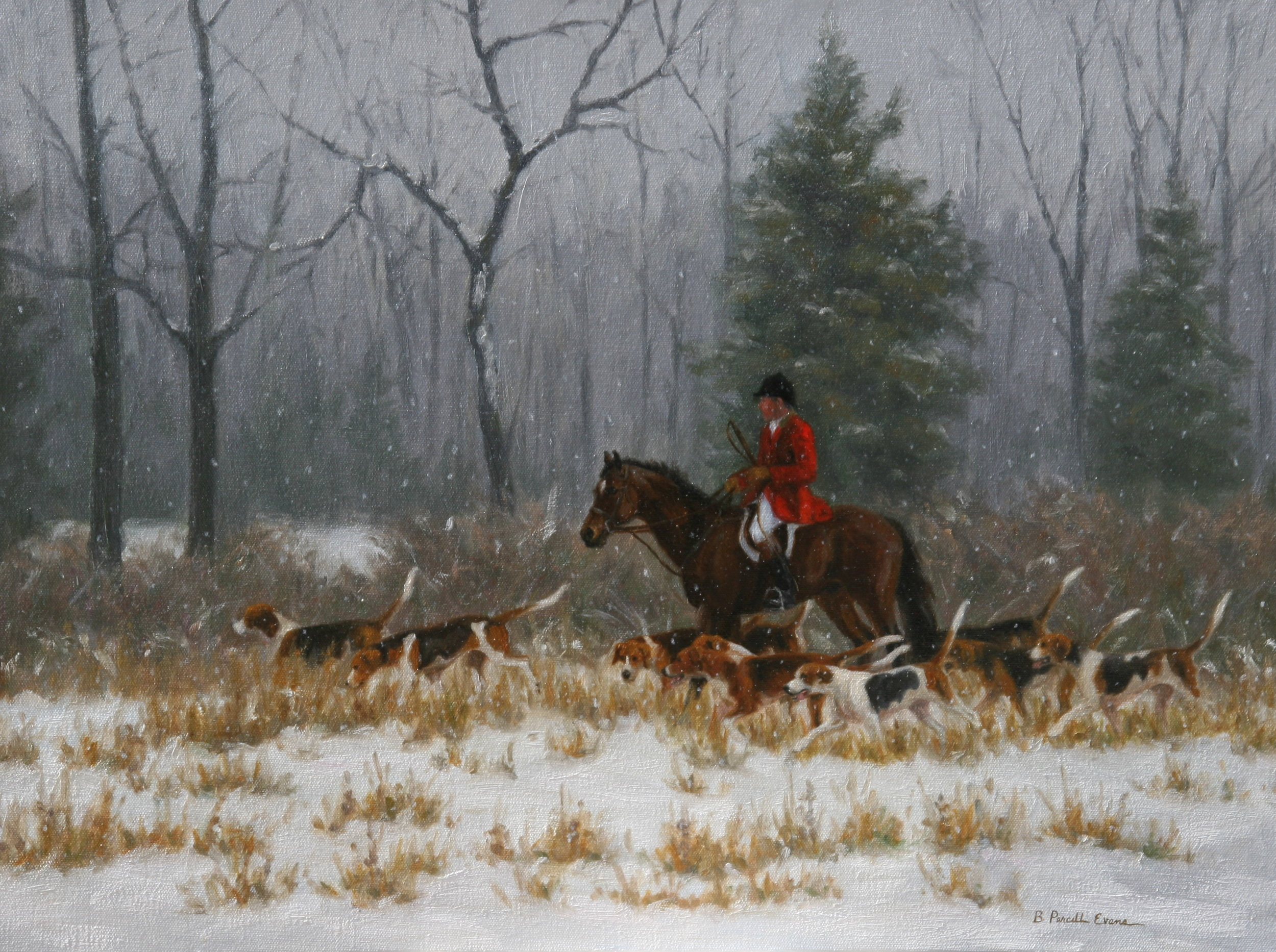 Beth Parcell Evans Title: Gentle Snowfall Size: 18 x 24 Price: $4000