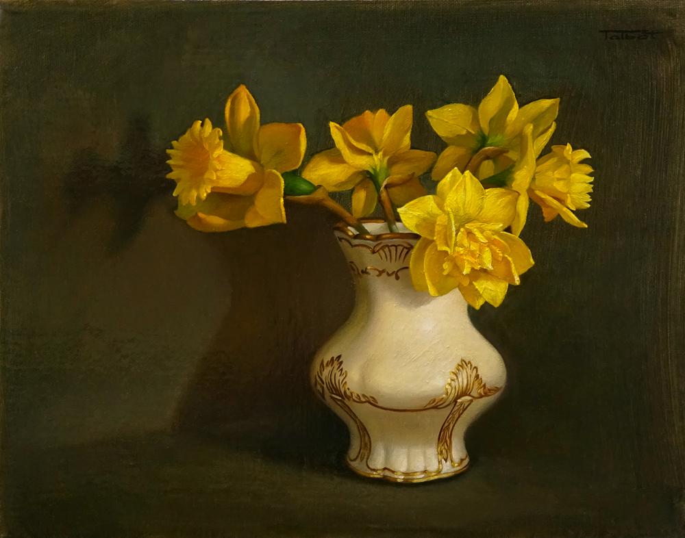 Susan Talbot-Elliott Title: Daffodils Size: 11x 14 x 1 Price: NFS