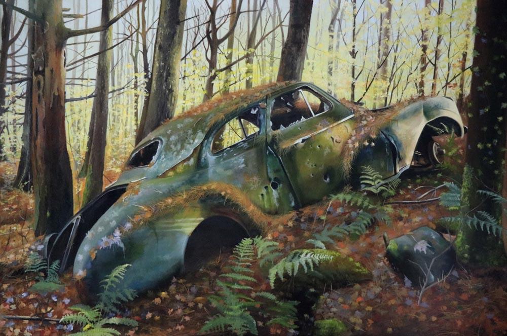 William Turner Title: Rabbit Hole Size: 24 x 36 x .5 Price: $4200