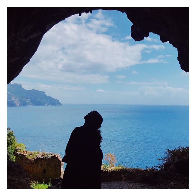 A secret cave on Amalfi Coast.