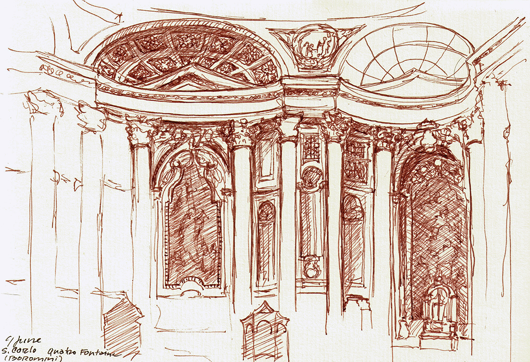 San Carlo alle Quattro Fontane, by Borromini