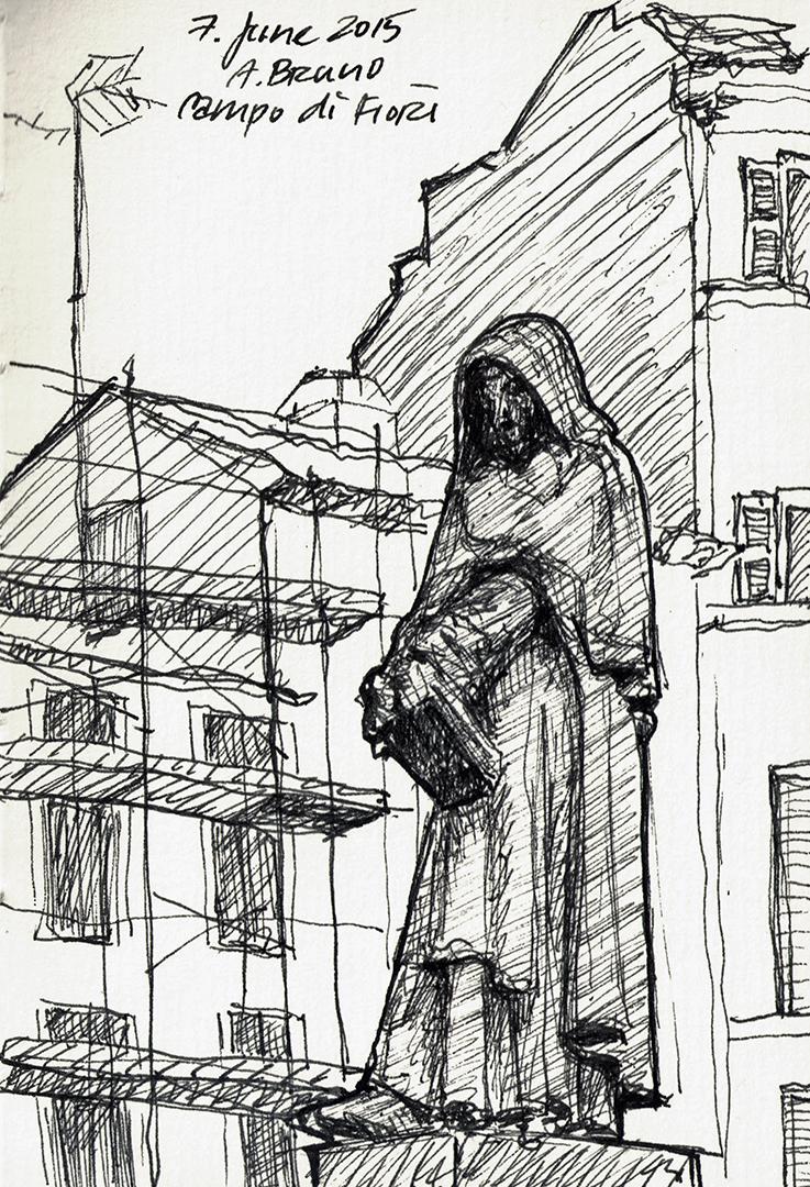 Giordano Bruno Monument in Campo de' Fiori