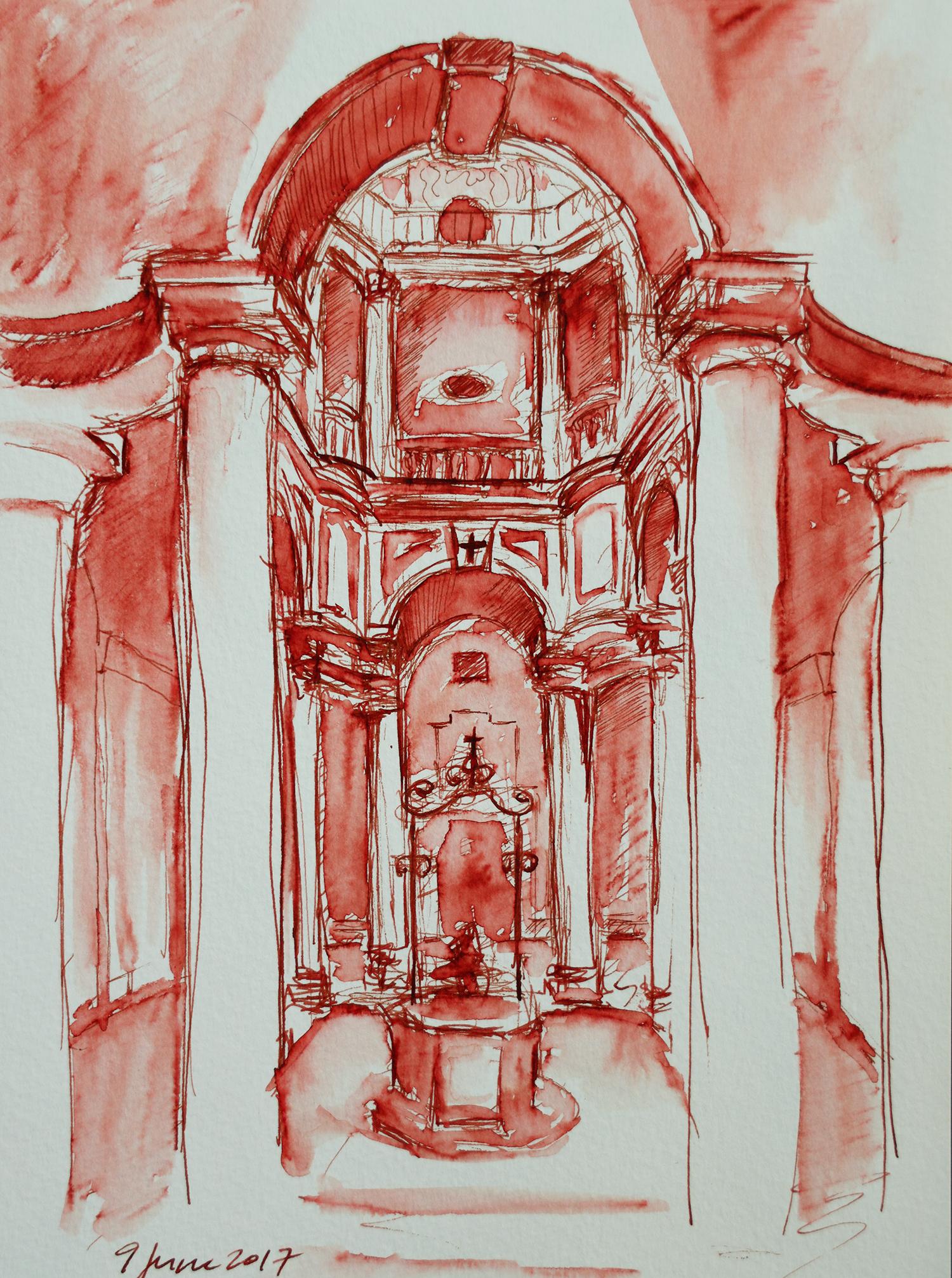 San Carlo alle Quattro Fontane, by Borromini: Cloister