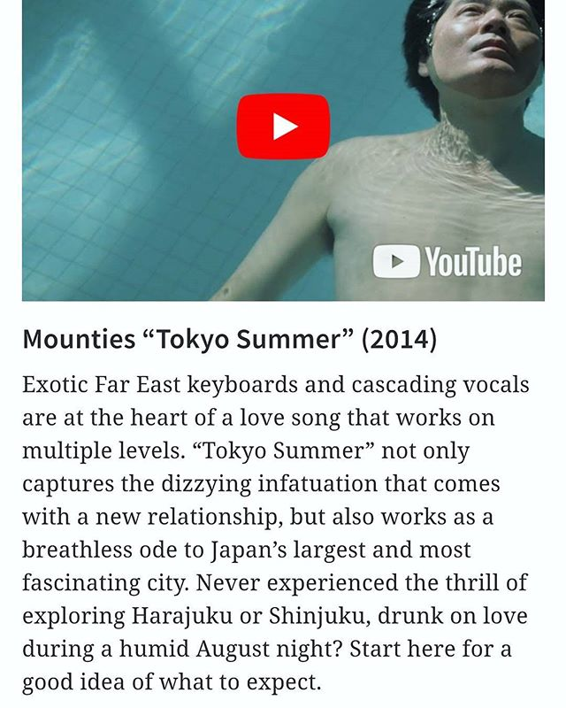 🏁Much love and respect to @georgiastraight for including @mountiesband #tokyosummer in 'The Straight's highly subjective list of the 50 best-ever songs to spring from Vancouver' !!! 🤙Additional gratitude for the inclusion of our Rye-guy's @ageofelectric 'I Don't Mind' and @limblifter 'Tinfoil'💋