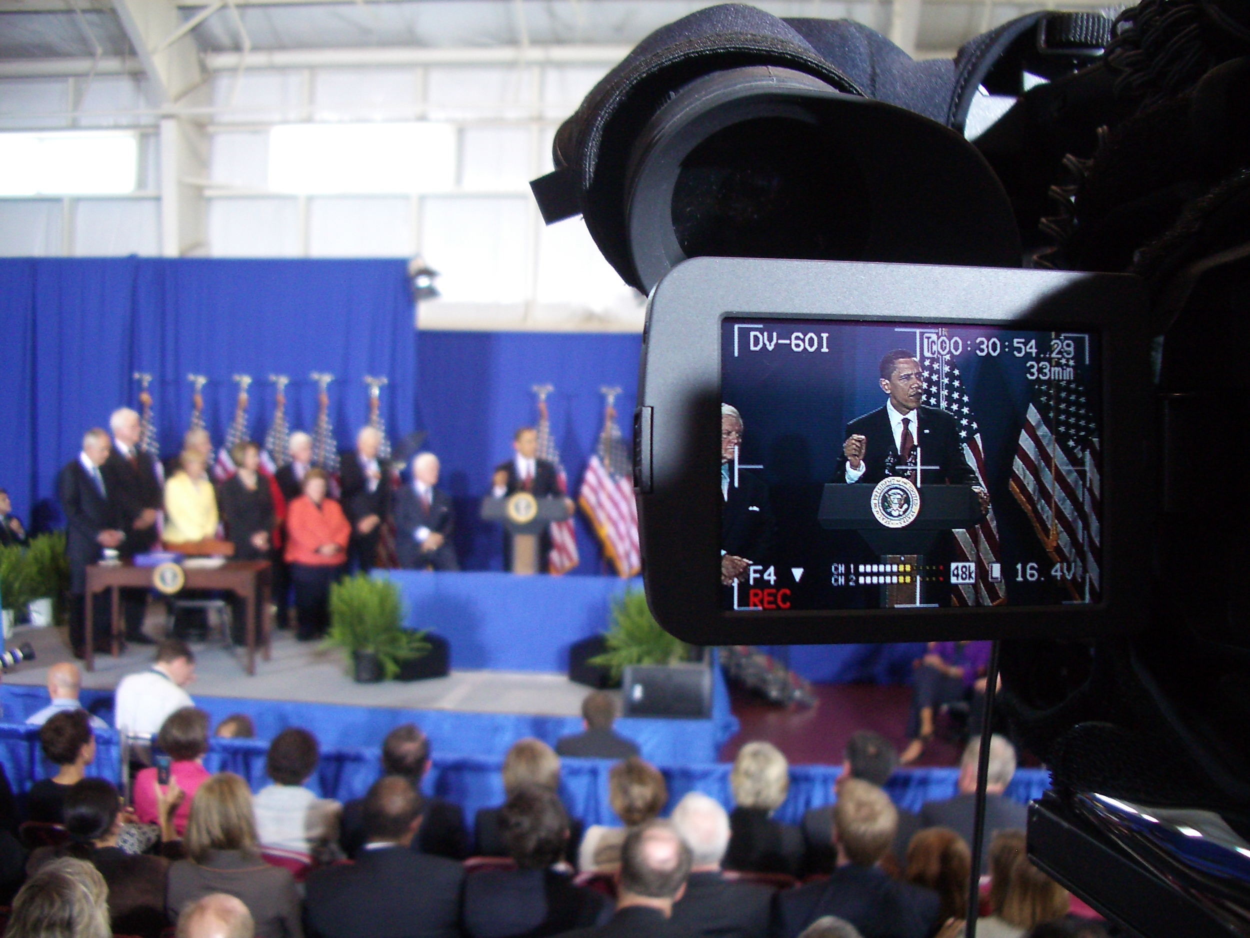 President Obama speaking at the SEED School of Washington D.C.