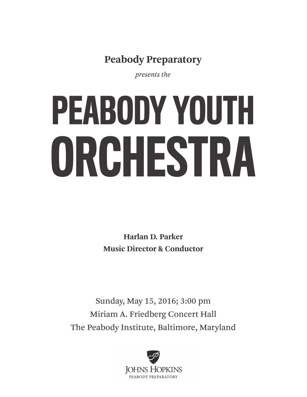 Peabody Preparatory Orders — Focal Point Productions, Inc