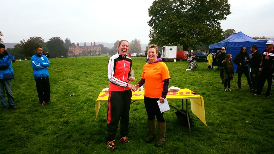 Gill collecting her 1st Place