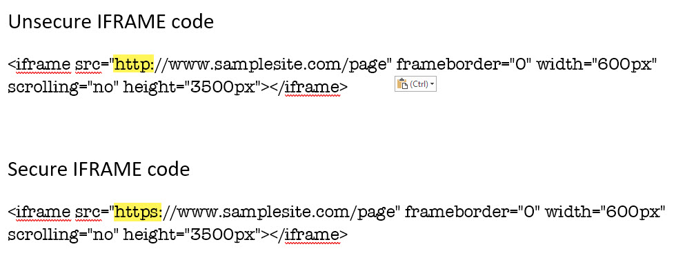 How to tell if your IFRAME code is secure or unsecure